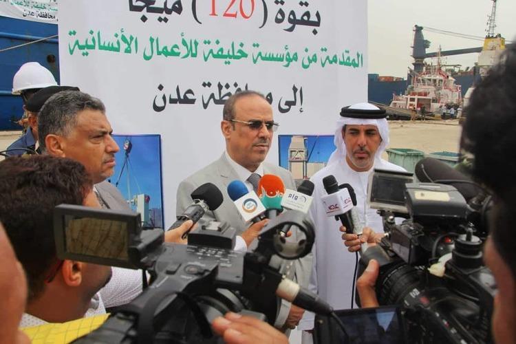 الميسري باستقبال محطة كهربائية من الإمارات: حل كهرباء عدن بحلول الصيف القادم