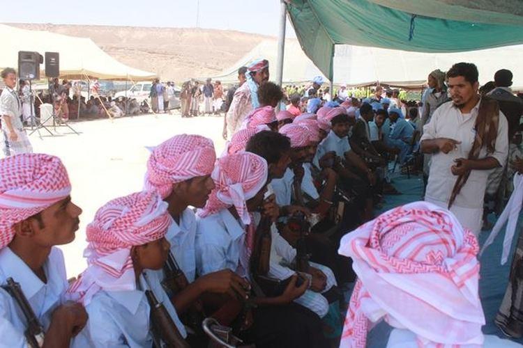 غيل بايمين في حضرموت تحتفل بزواج جماعي لـ120 عريساً وعروس