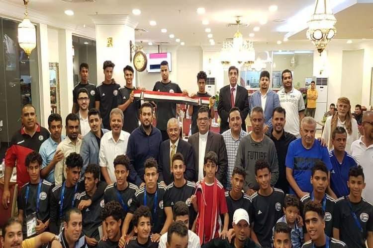 مجموعة هايل سعيد بماليزيا تكرم فريق منتخب اليمن للناشئين