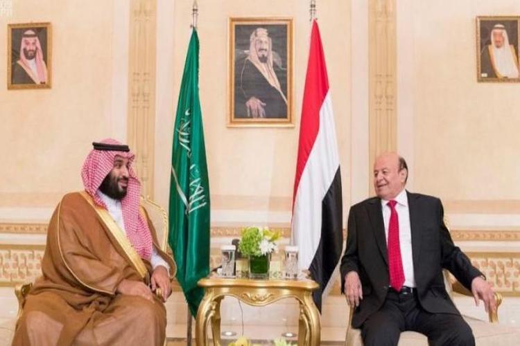 الرئيس هادي وولي العهد السعودي محمد بن سلمان