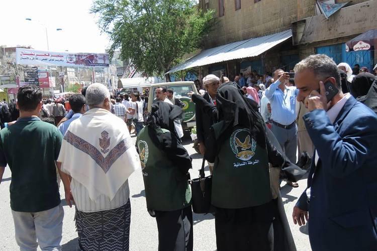 انتشار أمني مكثف بالتزامن مع المظاهرات في تعز