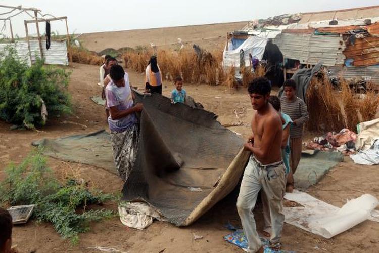 كوارث العاصفة المدارية لُبان في محافظة المهرة