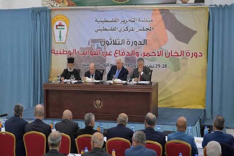 المجلس المركزي الفلسطيني يعلق الاعتراف بدولة إسرائيل