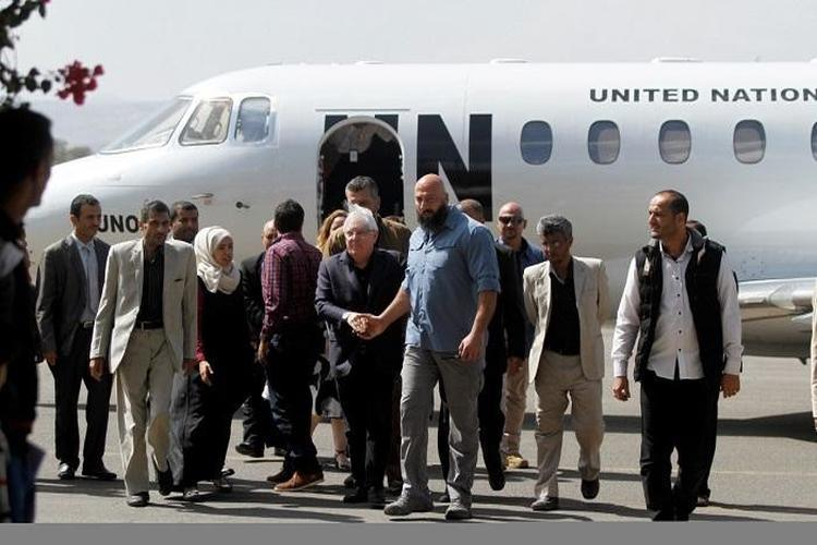 المبعوث الأممي غريفيث يصل صنعاء