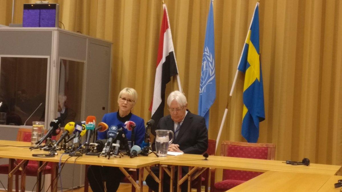 غريفيث بافتتاح مشاورات السويد: هناك إمكانية لحل يمني ولا نسعى لإنقاذ الحوثيين