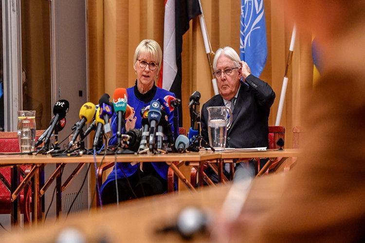 نص كلمة المبعوث الأممي مارتن غريفيث في افتتاح مشاورات السويد.. فيديو