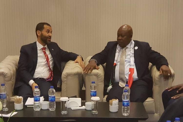 حميد الأحمر يستقبل رؤوساء وفود مشاركين بالمؤتمر الثاني لرابطة برلمانيون لأجل القدس