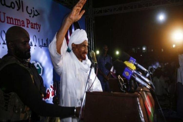 زعيم المعارضة السودانية الصادق المهدي