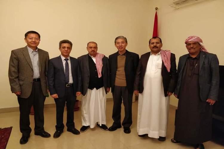 السفير الصيني لدى اليمن يلتقي قيادات في حزب المؤتمر