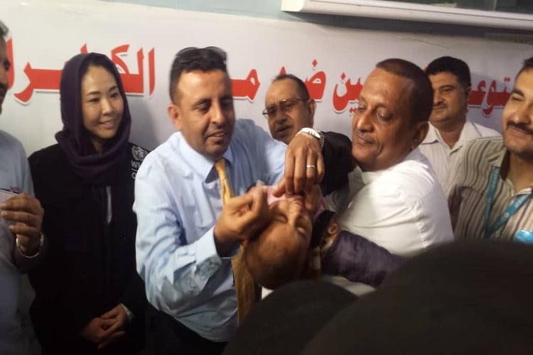 وزارة الصحة تدشن حملة تحصين ضد الكوليرا في أربع مديريات