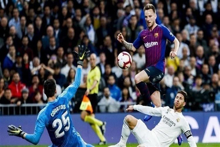 راكيتيتش يقود برشلونة لفوز صعب على ريال مدريد في الدوري الإسباني.. فيديو