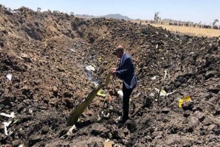 تحطم طائرة تابعة للخطوط الجوية الإثيوبية وعلى متنها 157 شخصاً