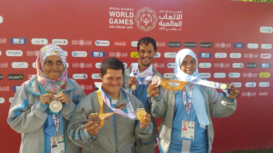 يمنيون يحصدون جوائز وميداليات ذهبية في الأولمبياد الخاص في أبوظبي