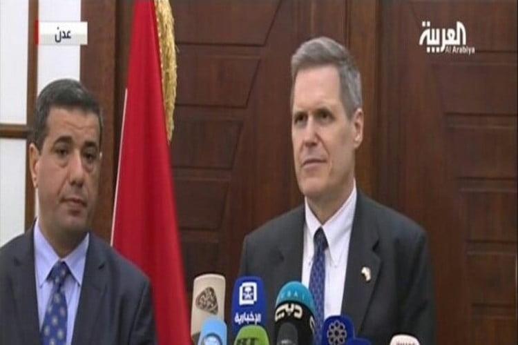 بالفيديو.. السفير الأمريكي: لا ندعم تقسيم اليمن وندرك أهمية عدن