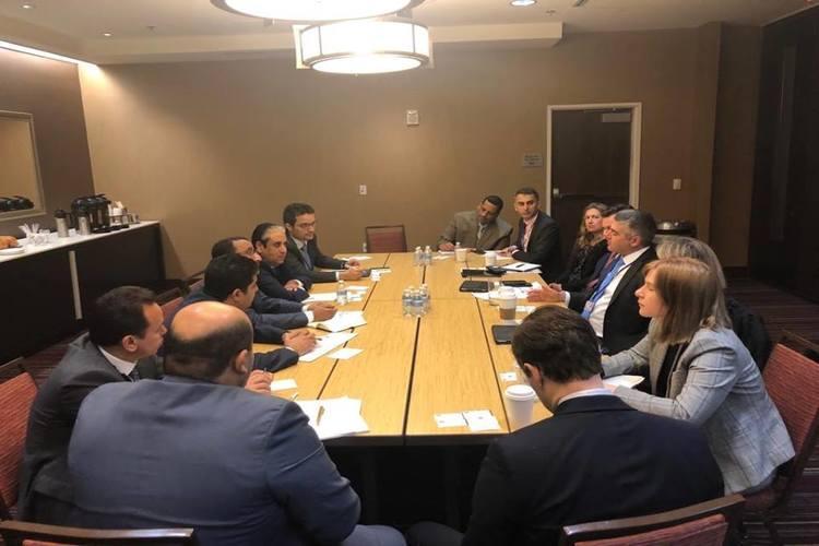 حافظ معياد يلتقي بوفد من البنك الفيدرالي الأمريكي في واشنطن.. صور