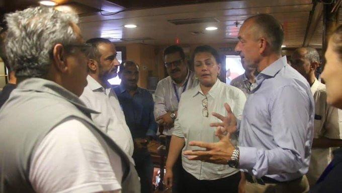 سفينة لوليسغارد تستضيف مجدداً اجتماعات لجنة تنسيق إعادة الانتشار في الحديدة