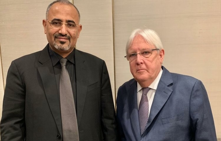 غريفيث بعد يوم من لقاء الزبيدي قلق من التصعيد العسكري في عدن