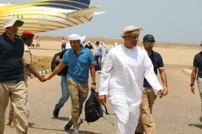 المندوب الإماراتي خلفان المزروعي وصل سقطرى مؤخراً