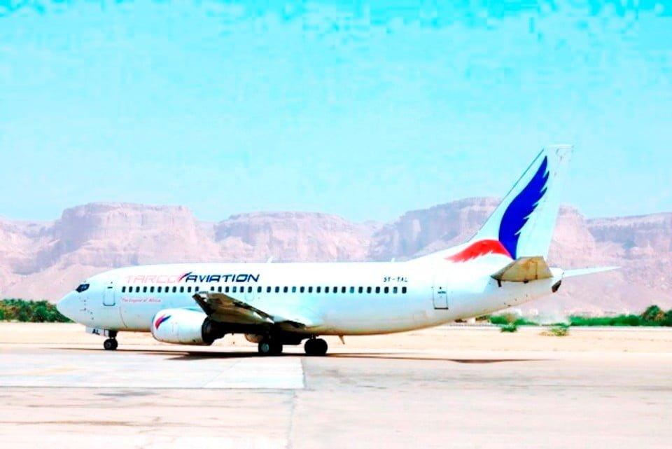 شركة طيران الملكة بلقيس تدشن اولى رحلاتها من مطار سيئون إلى جدة