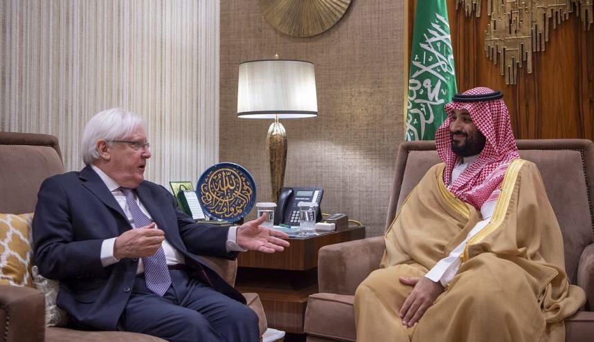 غريفيث مع ولي العهد السعودي محمد بن سلمان