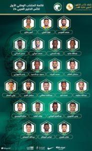 قائمة تشكيلة المنتخب السعودي خليجي 24