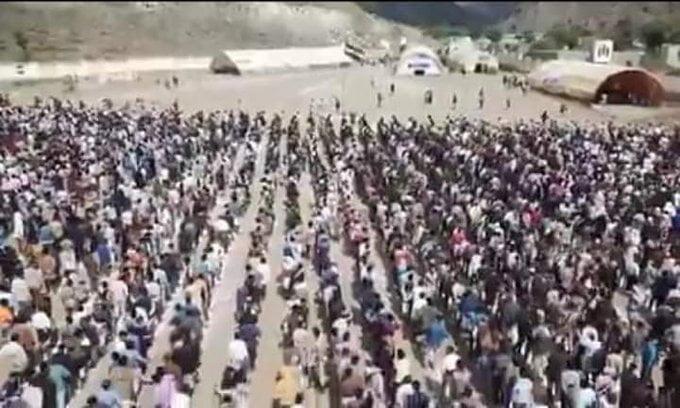 صورة من معسكر المخلافي في يفرس تعز