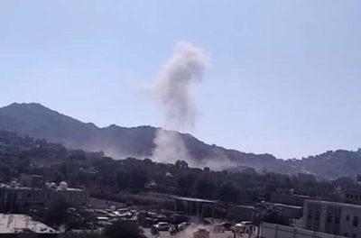 انفجار في الضالع جراء سقوط صاروخ