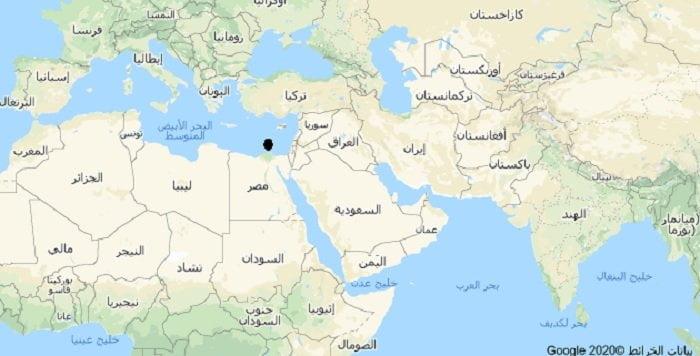 خريطة الشرق الأوسط الدول العربية أغلبها تضرر الانترنت بسبب عطل كابل