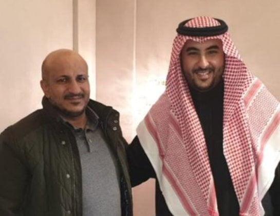 طارق صالح مع خالد بن سلمان في الرياض