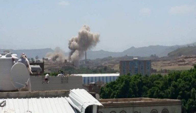 غارات جوية لطائرات التحالف في صنعاء
