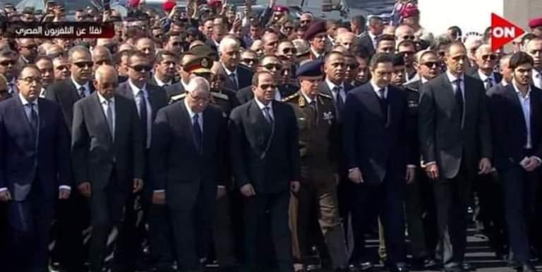 جنازة الرئيس المصري الأسبق محمد حسني مبارك