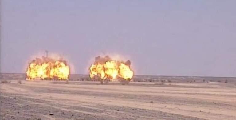 تدمير متفجرات وصواريخ محمولة قال الحوثيون إنها دفاعات جوية