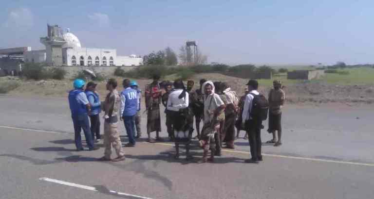 انسحاب ضباط الارتباط القوات الحكومية من مراقبة في الحديدة