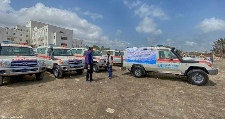 السعودية والإمارات تدعمان اليمن بسيارات إسعاف وعيادات متنقلة