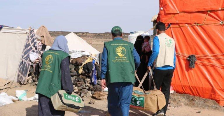 مركز الملك سلمان يقدم إغاثة للمتضررين من السيول في مأرب