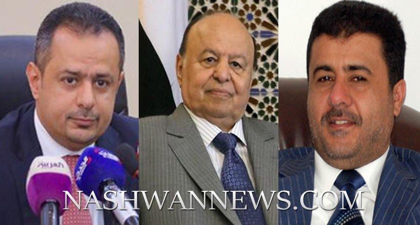أحمد العيسي والرئيس هادي ومعين عبدالملك