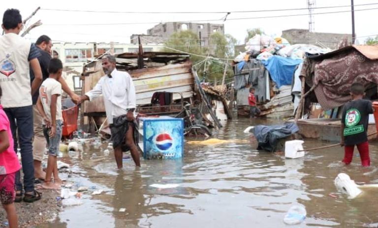 تقرير اضرار الامطار في محافظة عدن
