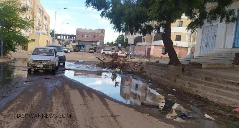 استمرار آثار السيول والأمطار في عدن