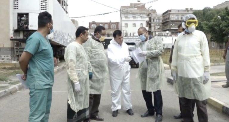وزير صحة الحوثيين طه المتوكل مع تفشي كورونا في صنعاء
