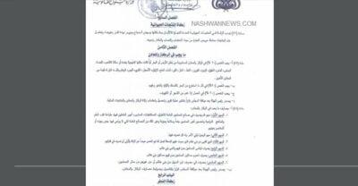 وثيقة تعديلات الحوثيين في قانون الزكاة الخمس بني هاشم