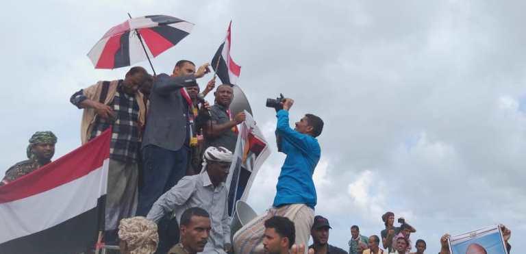 تظاهرة بحضور محافظ سقطرى رمزي محروس