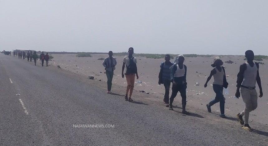 الهجرة الدولية: عشرات الآلاف من المهاجرين الأفارقة في اليمن تقطعت بهم السبل