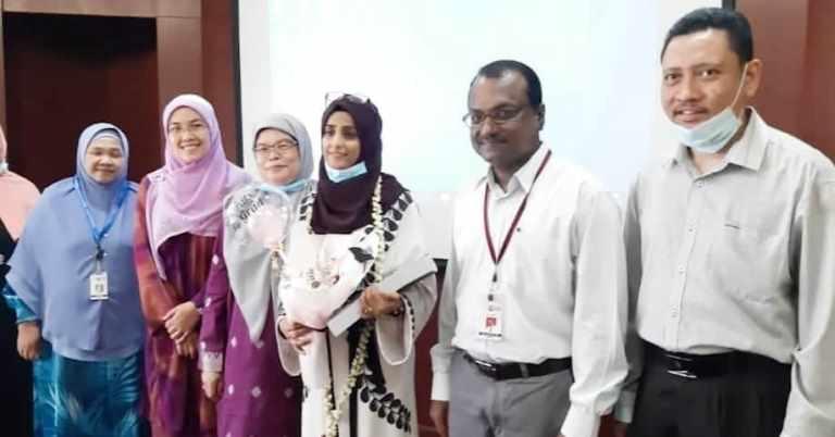 الدكتوراة في صحة المجتمع للباحثة سارة النعمان من جامعة بوترا الماليزية