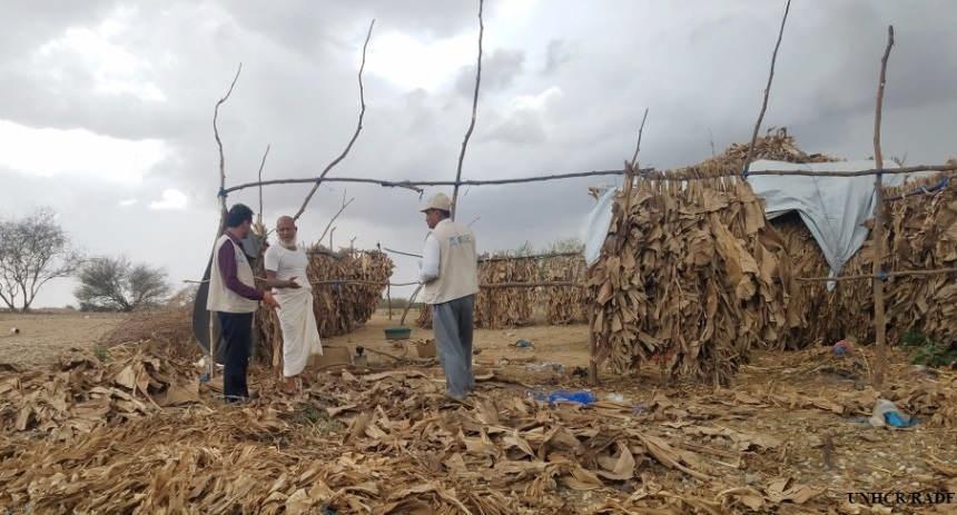 مفوضية اللاجئين أضرار الأمطار في الحديدة وكذلك حجة غربي اليمن