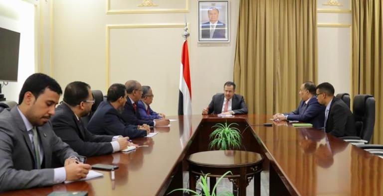 لقاء معين عبدالملك مع ممثلي الانتقالي