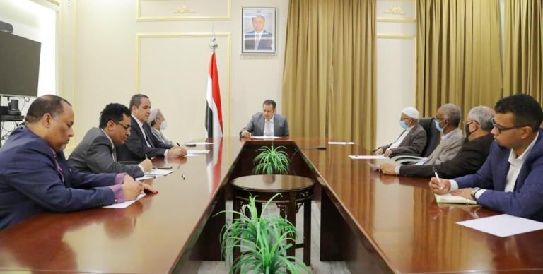 معين عبدالملك مع قادة الإصلاح في إطار مشاورات تشكيل الحكومة