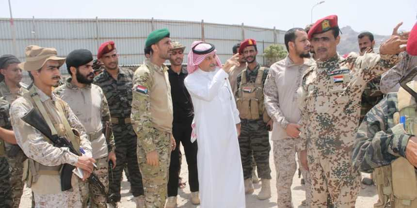 اللجنة السعودية في عدن تزور معسكر لواء العاصفة