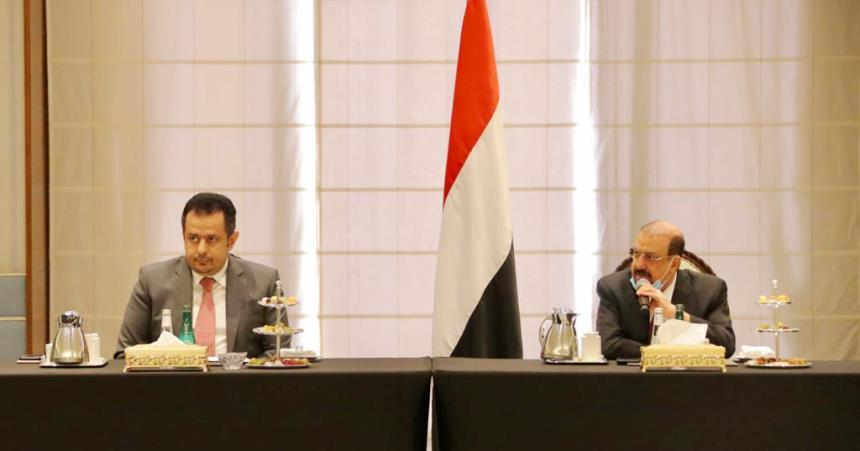 معين عبدالملك في اجتماع البرلمان والرئاسة حول مستجدات تشكيل الحكومة