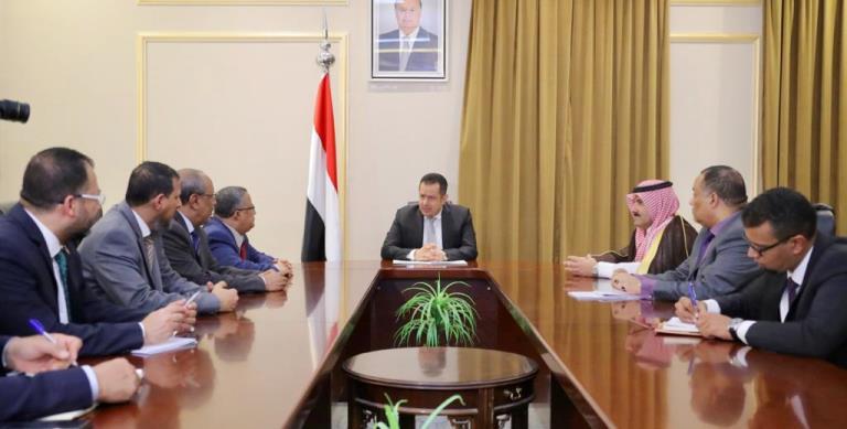 رئيس الوزراء معين عبدالملك في لقاء وفد الانتقالي للتشاور حول تشكيل الحكومة