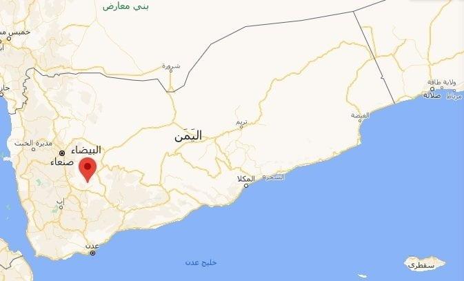خارطة مديرية القريشية في محافظة البيضاء وسط اليمن